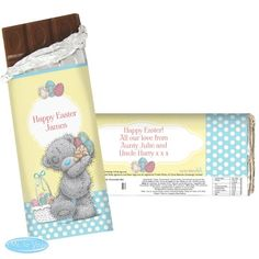 Personalise the front of the Easter Me To You chocolate bar with a message of up to 2 lines of 15 characters. Chocolate Card, Easter Chocolate, Gifts For Nan, Gifts For Kids, Hoppy Easter, Easter Gift, Eggs And Soldiers, Personalized Chocolate, Puppy Gifts