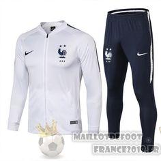 6278a4b88a Maillot De Foot Nike FIFA De Laine Survêtements France 2018 Blanc