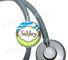 Stethoscope nametag...cute I need one of these especially since I always take my stethoscope off and leave it everywhere!