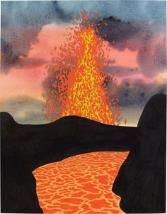 paintingorsomething: Ken Price Liquid Rock, 2004 acrylic and...
