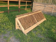 Sloping Brush Fence - cross country horse jumps