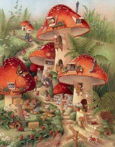 doet me denken aan toen ik vroeger een keer het blad Bobo kreeg,en daar stond een illustratie waar alle konijnen ook in een dergelijk gezellig dorpje woonden.