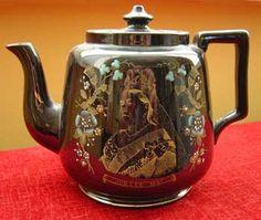 Queen Victoria Commemorative Teapot Golden Jubilee Jackfield type C.1887
