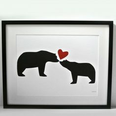 I Love You Art Print #mothersday