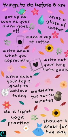 Morning Routine Chart, Healthy Morning Routine, Morning Routines, Daily Routines, Night Routine, Self Care Bullet Journal, Vie Motivation, Fitness Motivation, Happiness Challenge