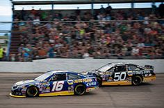 Bill McAnally Racing teammates Todd Gilliland and Chris Eggleston battled for the majority of the Napa/Toyota 150, at Colorado National Speedway.