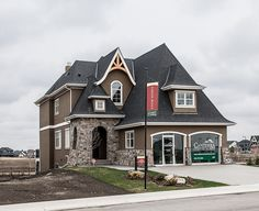The Tallia - Copyright Canterra Custom Homes Ltd. Home Builders, Custom Homes, Luxury Homes, Exterior, Mansions, House Styles, Inspiration, Beautiful, Home Decor