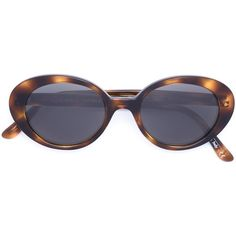 Oliver Peoples Oliver Peoples X the Row Sunglasses (€355) ❤ liked on Polyvore featuring accessories, eyewear, sunglasses, glasses, fillers, brown, oliver peoples glasses, brown sunglasses, multi colored sunglasses and brown glasses