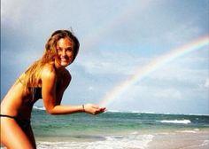 Bar Rafaeli catching a Rainbow