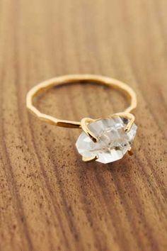 Raw Diamond Solitaire Ring
