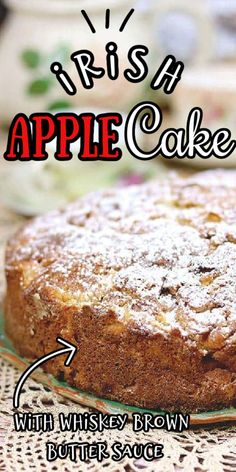 Easy Irish Desserts, Irish Recipes, Scottish Recipes, Food Cakes, Tea Cakes, Apple Cake Recipes, Baking Recipes, Irish Apple Cake, Irish Tea Cake Recipe