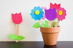 Foam Flower Garden Craft Project