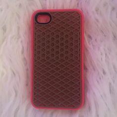 VANS phone case iPhone 4s Pink VANS iPhone 4s phone case. Great condition. Like new Vans Accessories Phone Cases