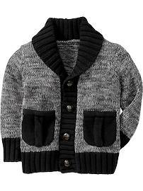 Shawl-Collar Cardigans for Baby Baby Cardigan Knitting Pattern Free, Baby Boy Knitting Patterns, Crochet Baby Cardigan, Knit Baby Sweaters, Knitting For Kids, Free Knitting, Toddler Boy Fashion, Kids Fashion, Sweater Design