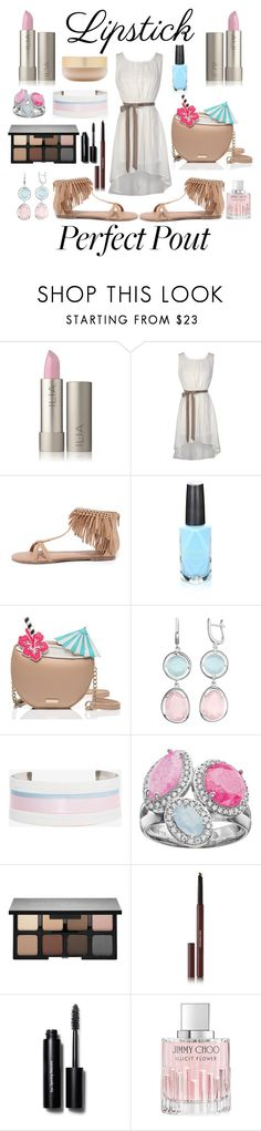 """Perfect Pout"" by adoremyeverything ❤ liked on Polyvore featuring beauty, Qupid, Azature, Kate Spade, Suzywan DELUXE, Smashbox, Hourglass Cosmetics, Bobbi Brown Cosmetics, Jimmy Choo and Eve Lom"