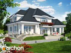 2 Storey House Design, House Front Design, Modern House Design, Bungalow Style House, Bungalow Homes, Home Design Floor Plans, Home Building Design, Model House Plan, Dream House Plans
