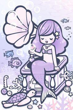 lavender mermaid illustration