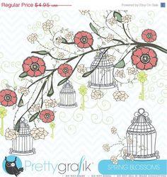 80 OFF SALE Spring flowers clipart by Prettygrafikdesign on Etsy  https://www.etsy.com/listing/108000149/80-off-sale-spring-flowers-clipart?ref=shop_home_active_17