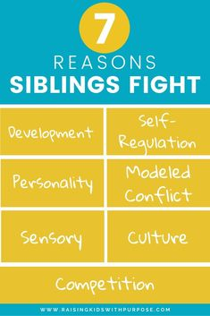 Once you know why siblings fight, you can get to the root of the problem to end it! No one likes hearing kids whine or engage in sibling rivalry! Positive Personality Traits, Behavior Management Strategies, Sibling Fighting, Angry Child, Intrinsic Motivation, Sibling Rivalry, Positive Discipline, Parent Resources, Kids Health