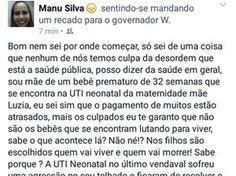 Blog do Osias Lima: No AP, mãe desabafa na web sobre lotação em UTI ne...