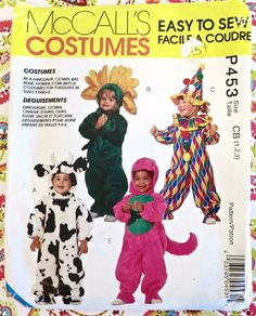 McCall's P453  Childs/Toddlers Costume Pattern with by Fragolina
