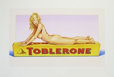 Mel Ramos - Toblerone Tess, 2007 lithograph 30 1/4 x 44 1/2 inches