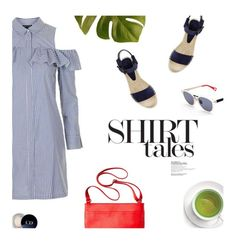 """""""It's a Shirtdress!"""" by magdafunk ❤ liked on Polyvore featuring Topshop, Vince, Haze, Christian Dior, Merona and shirtdress"""
