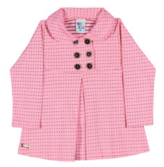Toddler Clothing - Collection: 2014 Fall/Winter.  Name: Toddler Peacoat Set. Available in 3 colors with matching leggings.  http://www.pullabulla.com/Toddler-Peacoat-Set-p/31223r.htm