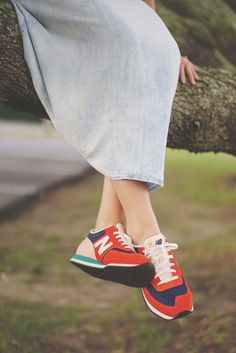 New Balance paired with dress #jcrew #gap @thuyminh #OBX #treehugger