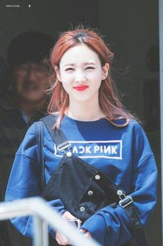 Nayeon (Twice) wearing a BlackPink sweatshirt Kpop Girl Groups, Korean Girl Groups, Kpop Girls, K Pop Idol, Warner Music, Twice Once, Nayeon Twice, Im Nayeon, Fandoms