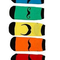 Mustache No-Show Socks 5-Pack - 174656
