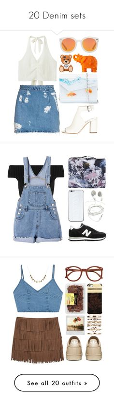 """20 Denim sets"" by andreiasilva07 ❤ liked on Polyvore featuring Karen Walker, Monki, Mario Luca Giusti, Acne Studios, Prada, Jimmy Choo, women's clothing, women, female and woman"