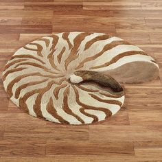 Chambered Nautilus Seashell Shaped Wool Rugs