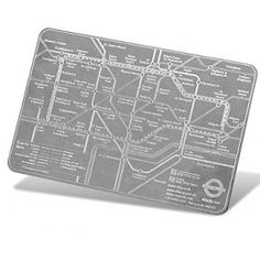 Credit Card Size Pocket Tube Map   Gifts For Her
