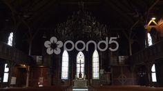 4k Inside traditional evangelic church in Harz village Braunlage - Stock Footage   by Beckhusen