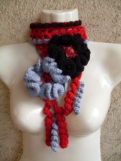 R E D U C E D   BIG SALE   One of a Kind Crochet by ethnicdesign, $17.00  #etsy  #scarf #handmade #fashion