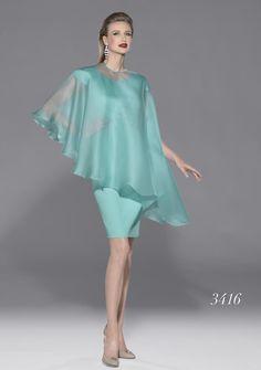 Modelo 3416 de Teresa Ripoll | vestido para fiesta o madrina en color azul turquesa | colección 2014-2015