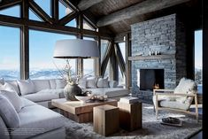 Outdoor Rooms In Swedish Mountains Classy Living Room, Cute Living Room, Boho Living Room, Beautiful Living Rooms, Living Room Decor, Mountain House Decor, Mountain Cabins, Warehouse Living, Suite Principal