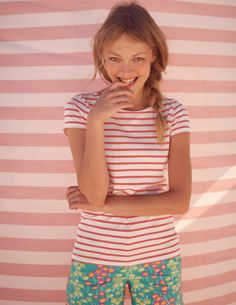 You can't go wrong with a classic, Breton tee! Short Sleeve Breton, £17.60 #boden