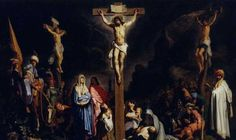 This is a painting of Rembrandt. This painting is particularly different to all the other paintintings of the Crucifixion in history. In that he painted himself in the crowd. Crucifixion Of Jesus, Jesus Christ, Savior, Akiane Kramarik Paintings, La Passion Du Christ, Bishop Barron, Jesus Wallpaper, William Adolphe Bouguereau, Dibujo