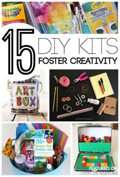 DIY Gift Kits for Kids Foster Creativity | LOVE this list of simple handmade christmas gifts