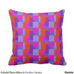 Decorate your home with decorative and throw pillows from Zazzle. Browse through pre-existing designs or create your own! Create Yourself, Create Your Own, Colorful Throw Pillows, Decorative Throw Pillows, Decorating Your Home, Store, Design, Accent Pillows, Larger