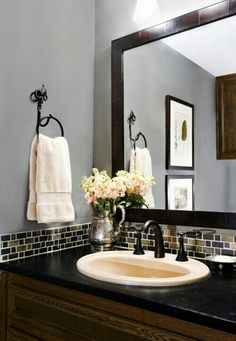 Simply for small bathroom ♥