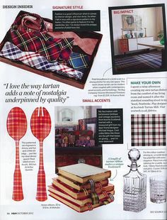 House and Home plaid october 2012