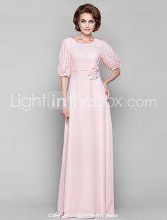 Sheath/Column Scoop Floor-length Chiffon Mother of the Bride Dress(568151) - USD $ 89.99