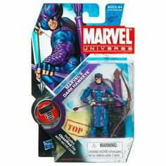 Marvel Universe 3 3/4 Inch Series 11 Action Figure #31 Marvels Dark Hawkeye Dark Avengers by Hasbro Toys. $17.99. The heroes and the villains of the Marvel Universe make the leap from the comic books to your action figure collection with these allnew Marvel Universe Action Figures! Each figure stands 3 3/4 tall and comes with accessories to save the day  or conquer the world!
