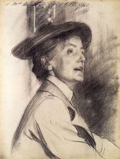Dame Ethel Mary Smyth (1858 - 1944)    John Singer Sargent (1856 - 1925)    Chalk on paper, 1901   © National Portrait Gallery, London