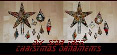 DIY Star Trek Christmas ornaments Star Trek Christmas, Christmas Love, Christmas Ornaments, Christmas Ideas, Comic Books, Stars, Holiday Decor, 3, How To Make