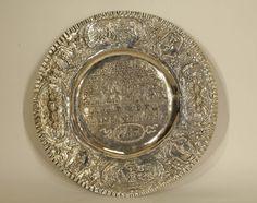 Lot 061 S57 - Passover Seder Plate - 19th C. - Est. $3000-4000 - Antique Reader