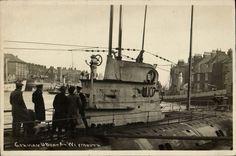 German U-Boat by H. Submarine U Weymouth Harbour, Portland Dorset, German Submarines, Naval History, Wwi, First World, Seaside, England, Military